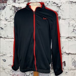 Men's Nike zip up XL black red